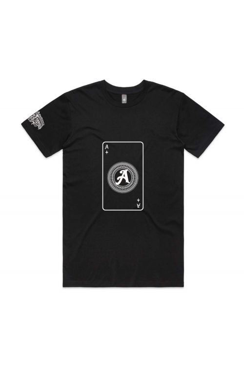 Playing Card Black Mens Tshirt by Andrew Farriss
